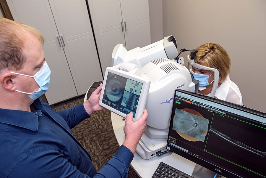 Glaucoma testing at Total Vision Rochester